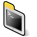 Apple, terminal, beos Black icon