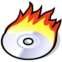 Burn, beos Black icon