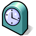 beos, Clock Black icon