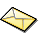 envelope, Email, mail Black icon