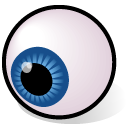 view, watch, beos, eyeball Black icon