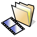 beos, video, Folder Black icon