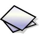 beos, paper, generic Black icon