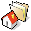 Home, beos, Folder Black icon