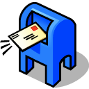 Daemon, beos, mail Black icon