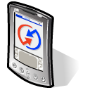 beos, palm Black icon