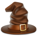 witch hat, halloween, hat SaddleBrown icon