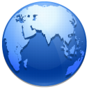 network, earth, Browser, world, planet SteelBlue icon