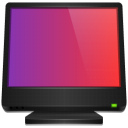 monitor, Computer, screen Purple icon