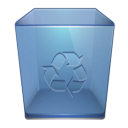 recycle bin, Trash, Garbage SteelBlue icon