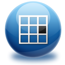 Grid, right, Center MidnightBlue icon