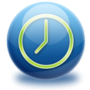 time, Sphere, Gloss MidnightBlue icon