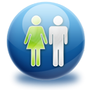 Man, woman, group, Users, people, friends MidnightBlue icon