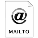 document, mailto Black icon