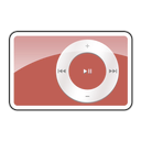 shuffle, 2g, ipod, red Black icon
