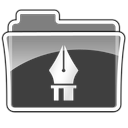 vectors, Folder Black icon