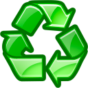 reuse, recycle Green icon