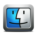 Face, mac os x, Apple, mettalic, Finder Black icon