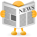 News paper Black icon
