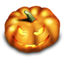 halloween, evil, jack o lantern, pumpkin Black icon