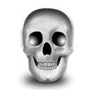 Skeleton, skull, halloween, head Black icon