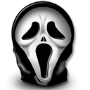 halloween, scream, horror Black icon