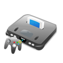 64, Ps, Computer game, xbox, nintendo, n, Game, Console, n64 Black icon