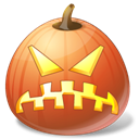 pumpkin, jack o lantern, Angry, halloween Black icon
