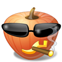 cool, halloween, jack o lantern, pumpkin Black icon