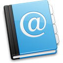 Address book, contacts CornflowerBlue icon