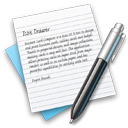 textedit, write, document Black icon