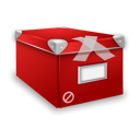 classified, Box, Closed Black icon