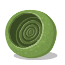 textedit, nest, 48, bugs, green OliveDrab icon