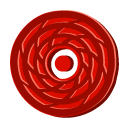 red, disc, Cane DarkRed icon