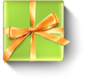 christmas, present, birthday, gift YellowGreen icon