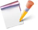 Note, write, blog Black icon
