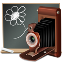 school, Camera, Black board DarkSlateGray icon