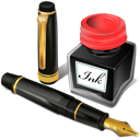 Ink, office, Antique, Pen Black icon