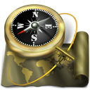 compass, Map, Antique, Atlas, world, navigation, sailing, exploration, old DarkOliveGreen icon