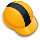 helmet, hat Orange icon