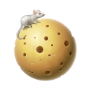 Mouse, Moon, planet, Cheese Black icon