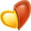 love, Heart Gold icon
