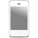 Iphone, Apple, White, Front Gray icon