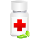 medical, medicine, pills, pot Black icon