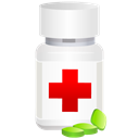 pot, medical, pills Black icon