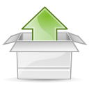 upload, Arrow Gainsboro icon