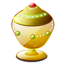 Aladdin, lamp Black icon