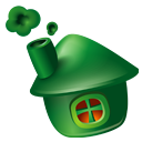 Community, Home, house DarkGreen icon