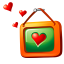 picture, love OrangeRed icon