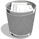 recycle bin, Trash, Full DarkGray icon